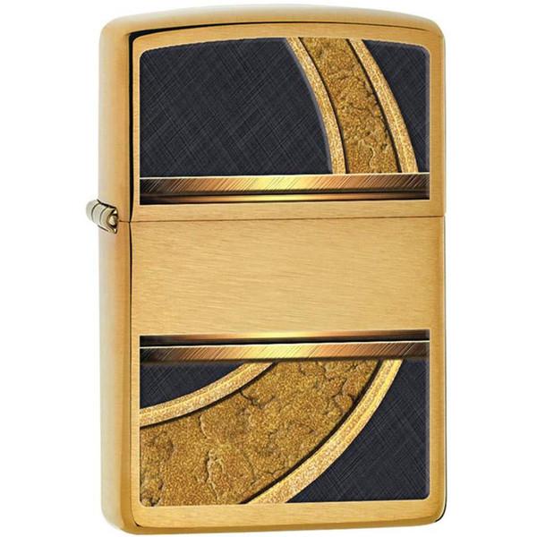 فندک زیپو مدل Gold And Black کد 28673