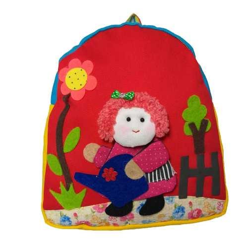 کوله پشتی دخترانه طرح نقاشی کد 7172