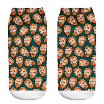 جوراب مردانه طرح ونگوگ کد 1007