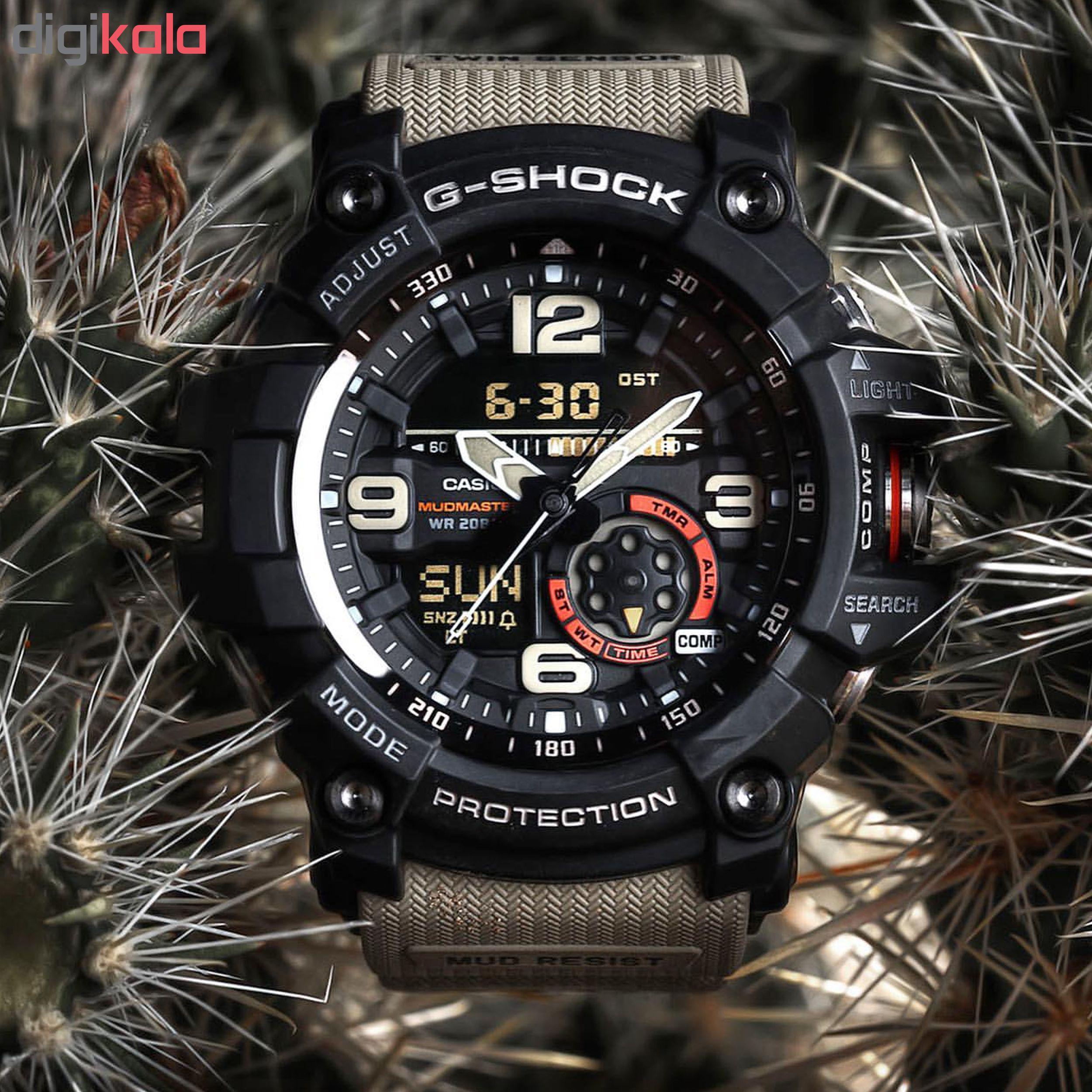 ساعت مچی عقربه ای مردانه کاسیو جی شاک مدل CAS-GG10001A5DR
