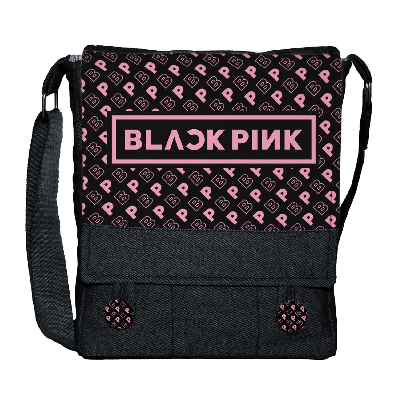 عکس کیف دوشی زنانه گالری چی چاپ طرح black pink کد 65874