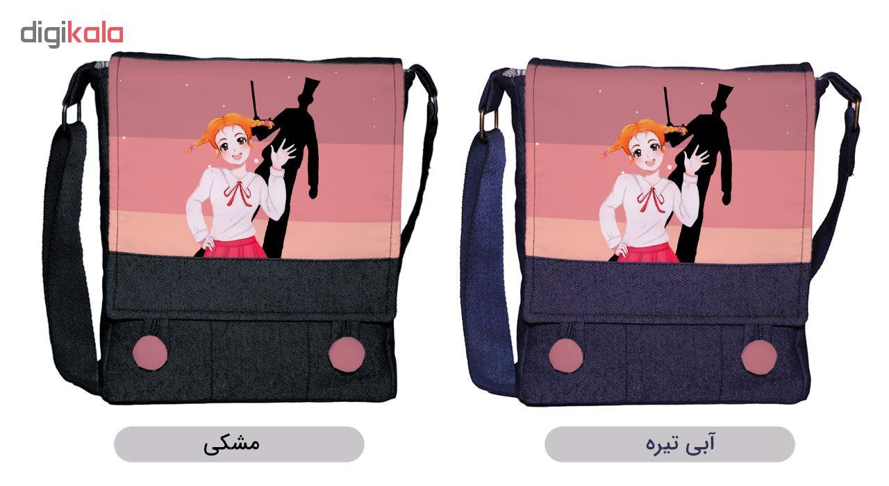 کیف دوشی زنانه گالری چی چاپ طرح بابا لنگ دراز کد 65871
