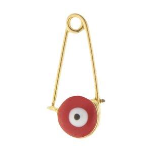 سنجاق سینه طلا 18 عیار زنانه طرح چشم نظر کد SP-005