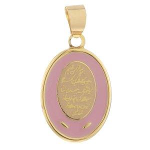 آویز گردنبند طلا 18 عیار دخترانه طرح و ان یکاد کد MD-001