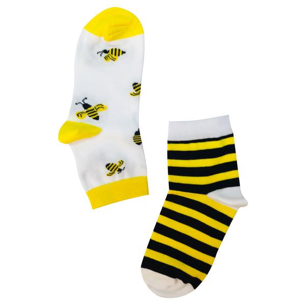 جوراب زنانه طرح زنبور کد 01