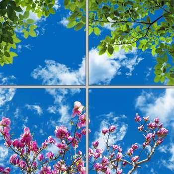 تایل سقفی آسمان مجازی مدل AZ22051 سایز 60*60 سانتی متر مجموعه 4 عددی