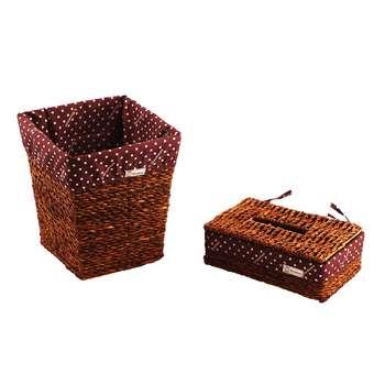 ست سطل و جا دستمال کاغذی وودمن مدل WDMN کد B208-DLT1074