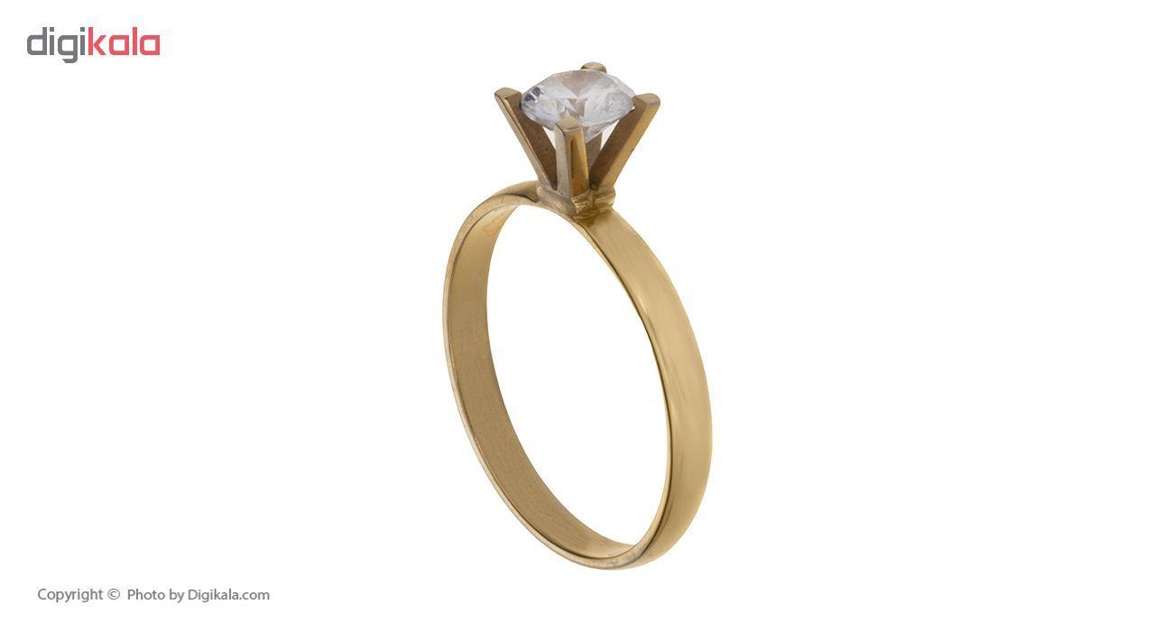 انگشتر طلا 18 عیار زنانه کد A134 thumb 2 2