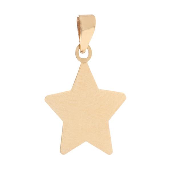 آویز گردنبند طلا 18 عیار دخترانه طرح ستاره کد MD-011