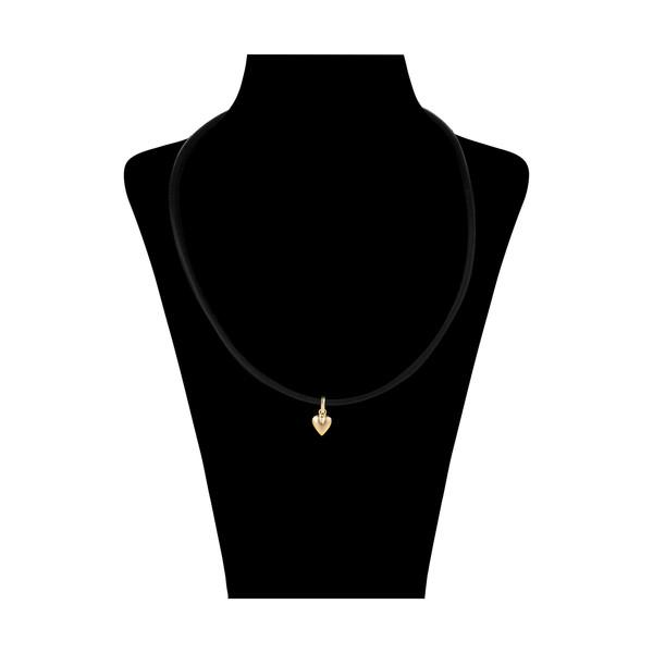 گردنبند طلا 18 عیار زنانه گالری ظهیرالدینی طرح قلب کد NL-003