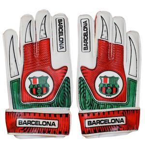 دستکش دروازه بانی پسرانه طرح بارسلونا کد 001