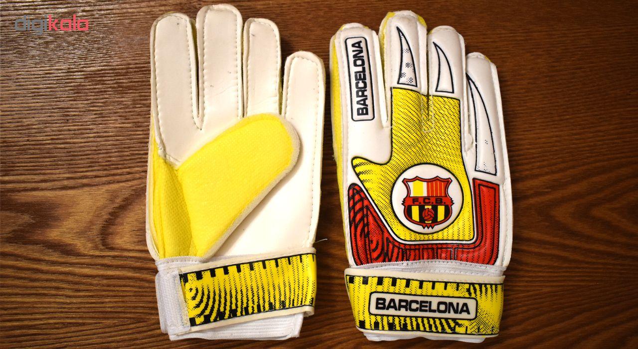 دستکش دروازه بانی پسرانه طرح بارسلونا کد 004