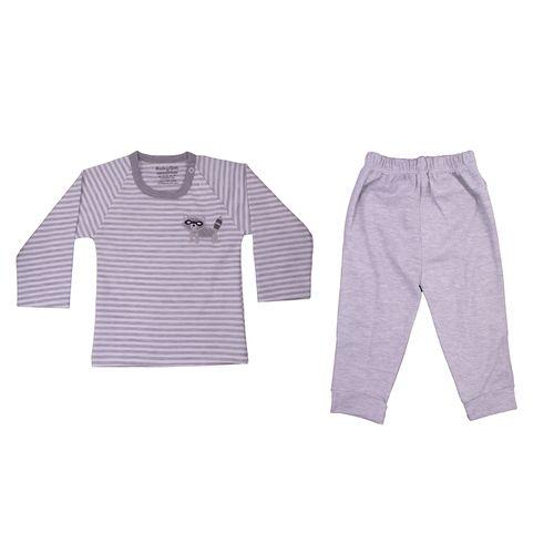 ست تی شرت و شلوار نوزادی پسرانه طرح راکون