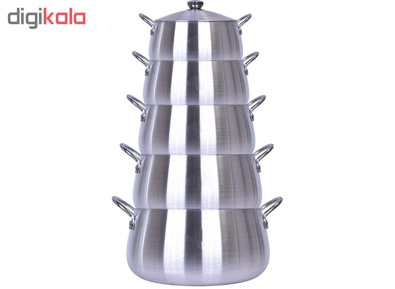 سرویس قابلمه 10  پارچه مدل بادی Cas main 1 2