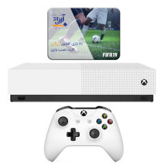کنسول بازی مایکروسافت مدل Xbox One S ALL DIGITAL ظرفیت 1 ترابایت به همراه 20 عدد بازی