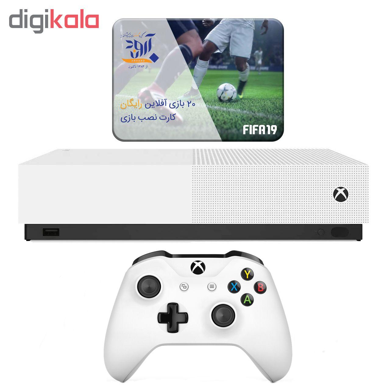 کنسول بازی مایکروسافت مدل Xbox One S ALL DIGITAL ظرفیت 1 ترابایت به همراه 20 عدد بازی main 1 1
