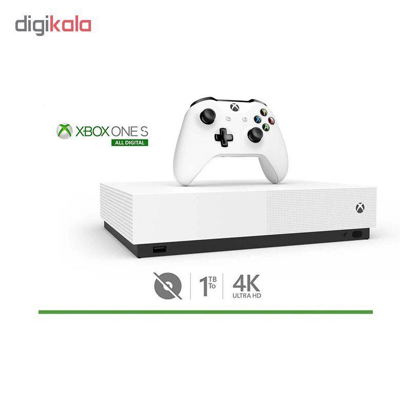 کنسول بازی مایکروسافت مدل Xbox One S ALL DIGITAL ظرفیت 1 ترابایت به همراه 20 عدد بازی main 1 2