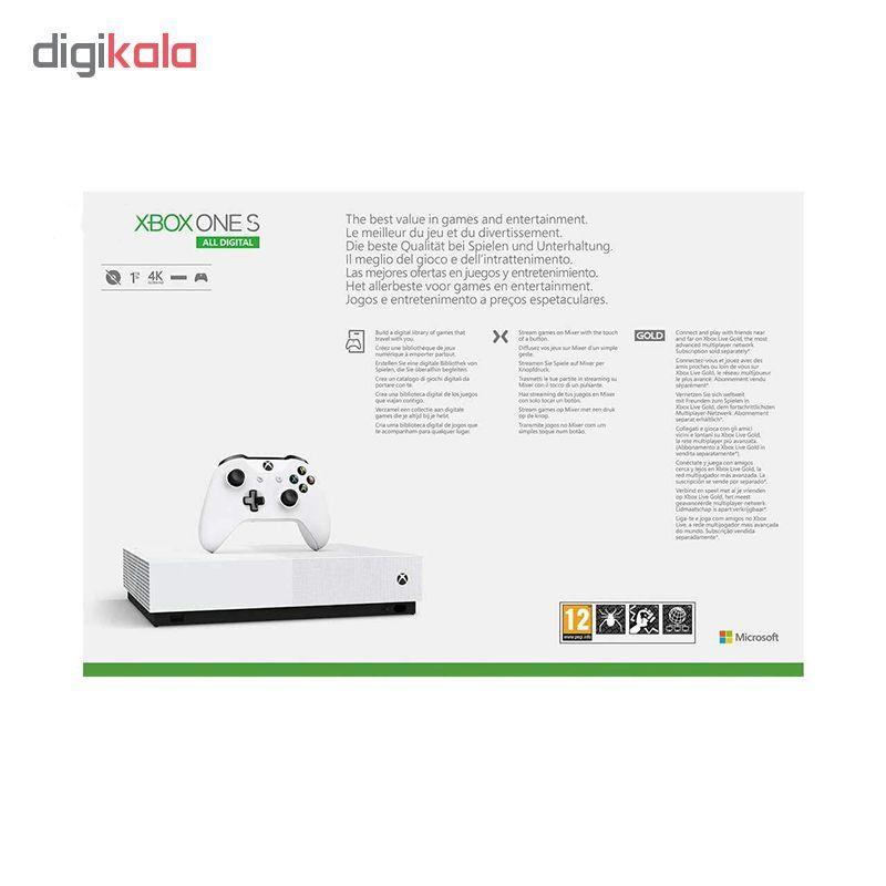 کنسول بازی مایکروسافت مدل Xbox One S ALL DIGITAL ظرفیت 1 ترابایت به همراه 20 عدد بازی main 1 3