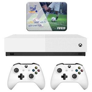 مجموعه کنسول بازی مایکروسافت مدل Xbox One S ALL DIGITAL ظرفیت 1 ترابایت به همراه 20 عدد بازی