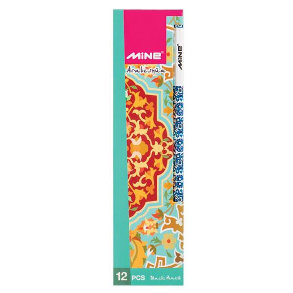 مداد مشکی ماین مدل Arabesqua کد 816 بسته 12 عددی