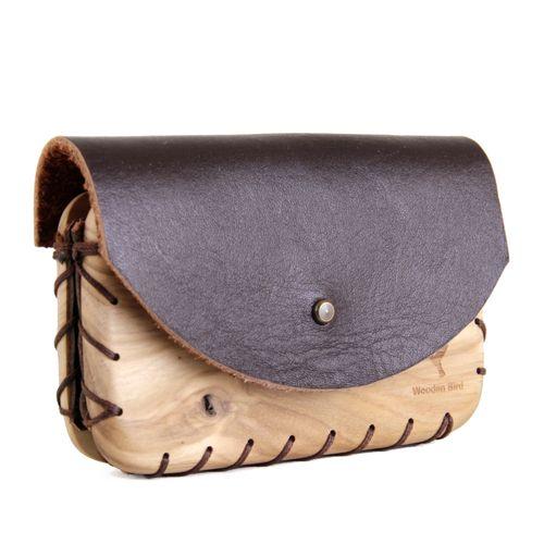 کیف کارت چرم و چوب مدل WL