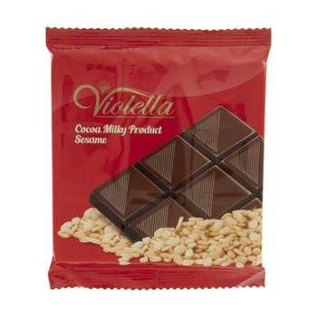 فرآورده کاکائویی تابلت شیری با کنجد ویولتا وزن 55 گرم