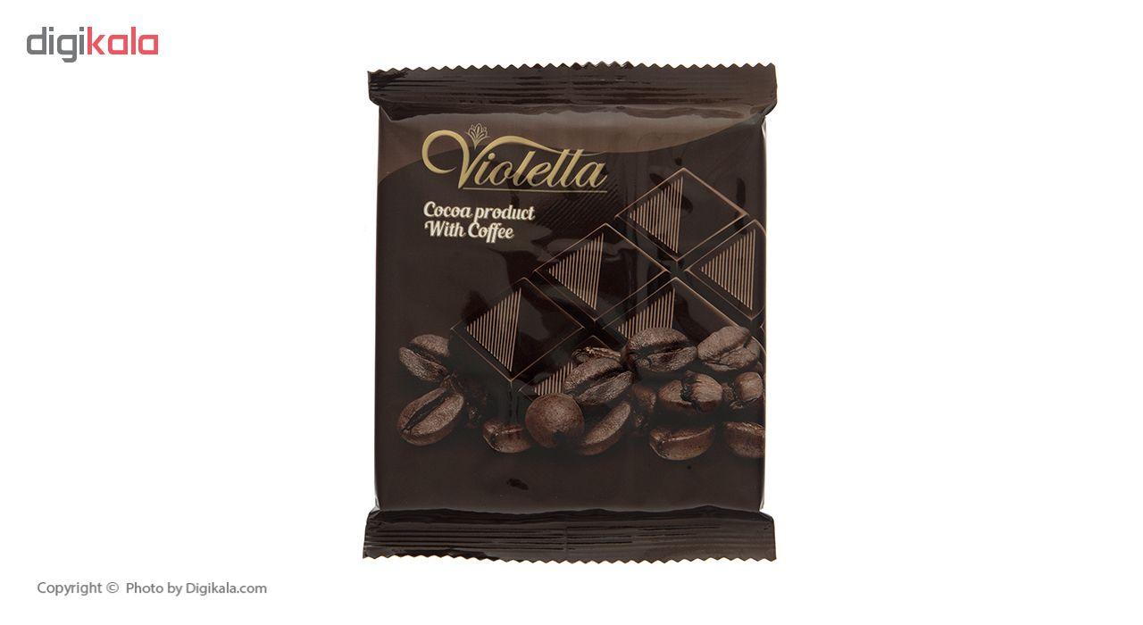 فرآورده کاکائویی تابلت قهوه ویولتا وزن 55 گرم