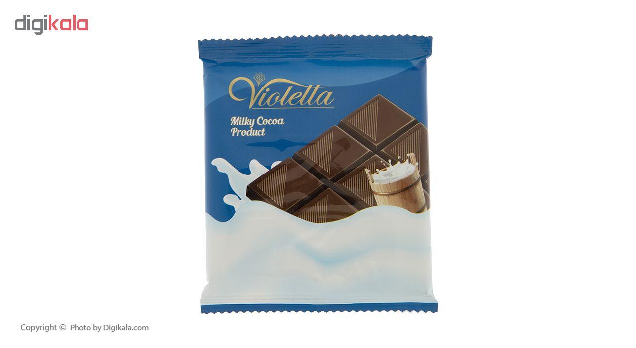 فرآورده کاکائویی تابلت شیری ویولتا وزن 55 گرم