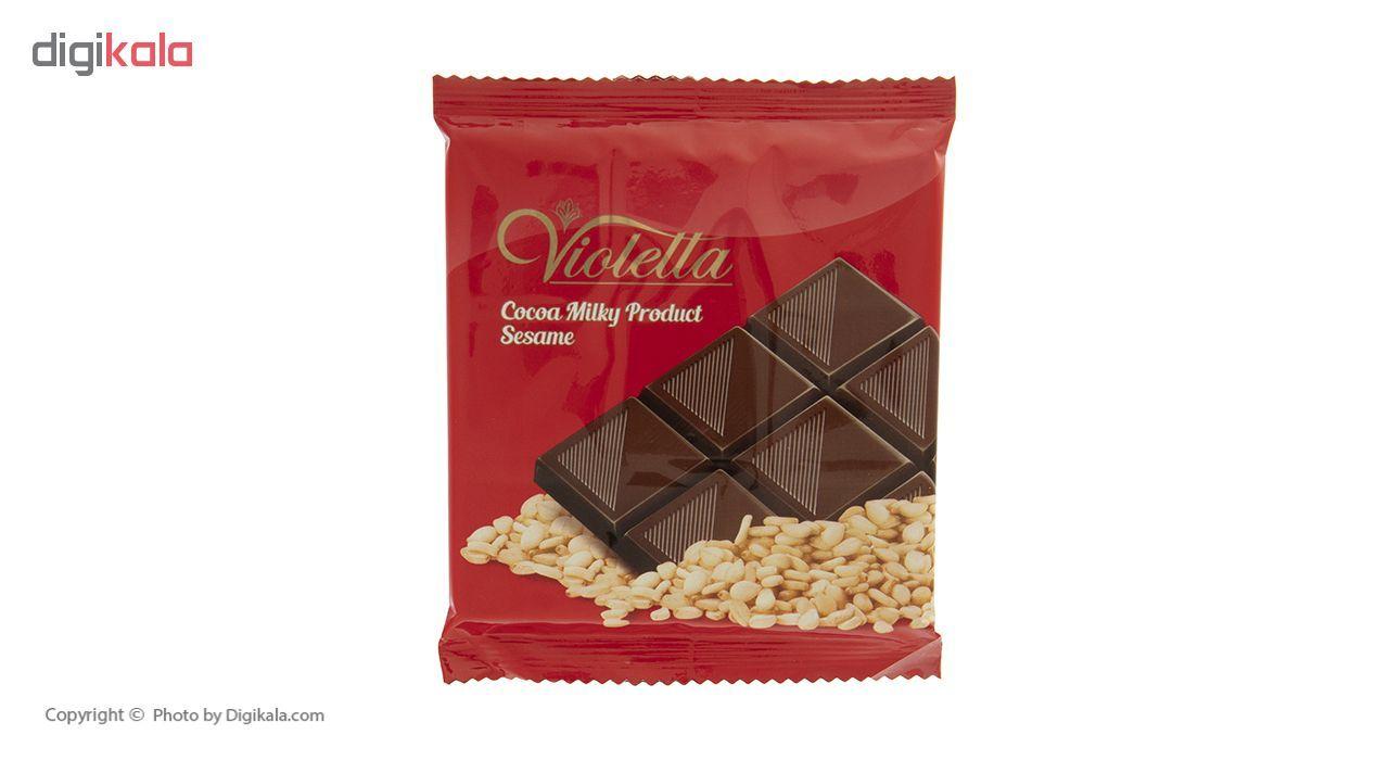 فرآورده کاکائویی تابلت شیری با کنجد ویولتا وزن 55 گرم main 1 1