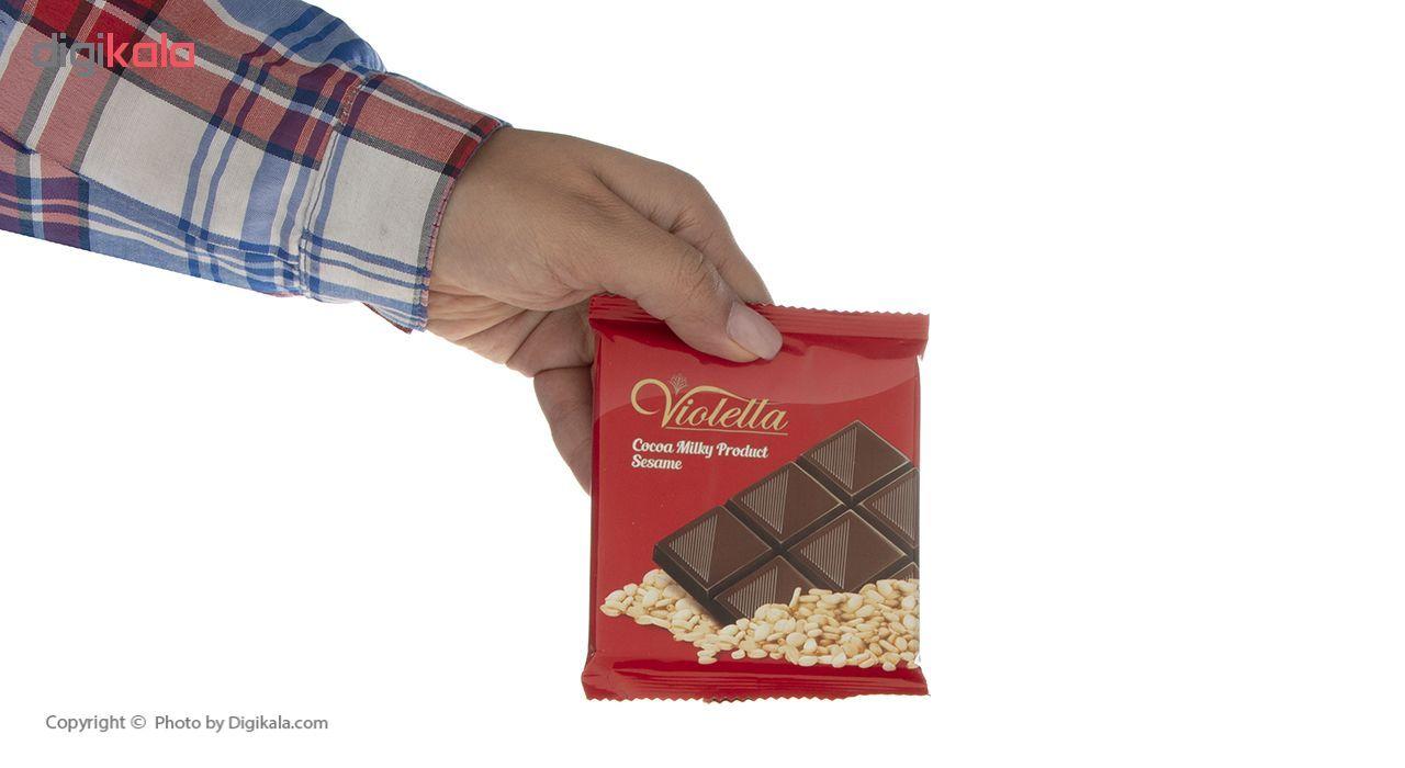 فرآورده کاکائویی تابلت شیری با کنجد ویولتا وزن 55 گرم main 1 6