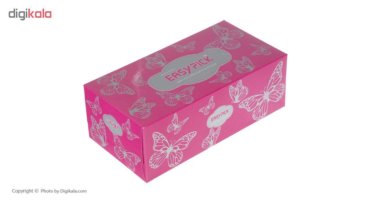 دستمال کاغذی 150 برگ ایزی پیک مدل Butterfly بسته 3 عددی main 1 4
