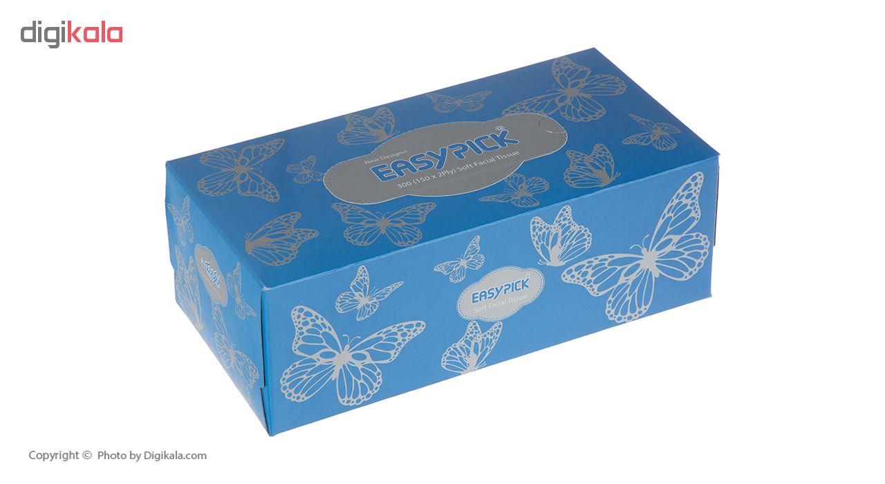 دستمال کاغذی 150 برگ ایزی پیک مدل Butterfly بسته 3 عددی main 1 8