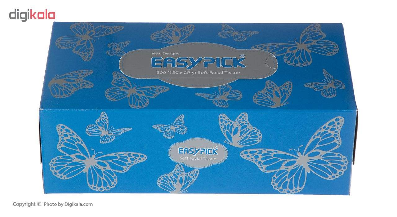 دستمال کاغذی 150 برگ ایزی پیک مدل Butterfly بسته 3 عددی main 1 9