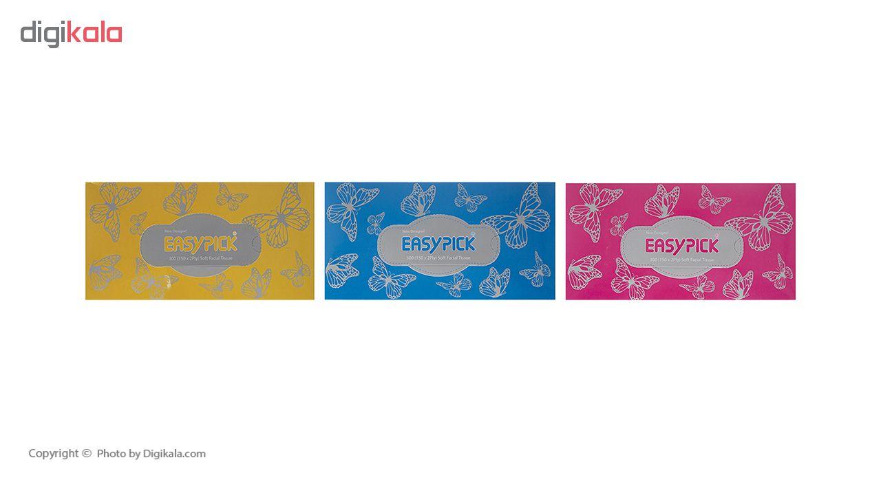 دستمال کاغذی 150 برگ ایزی پیک مدل Butterfly بسته 3 عددی main 1 20