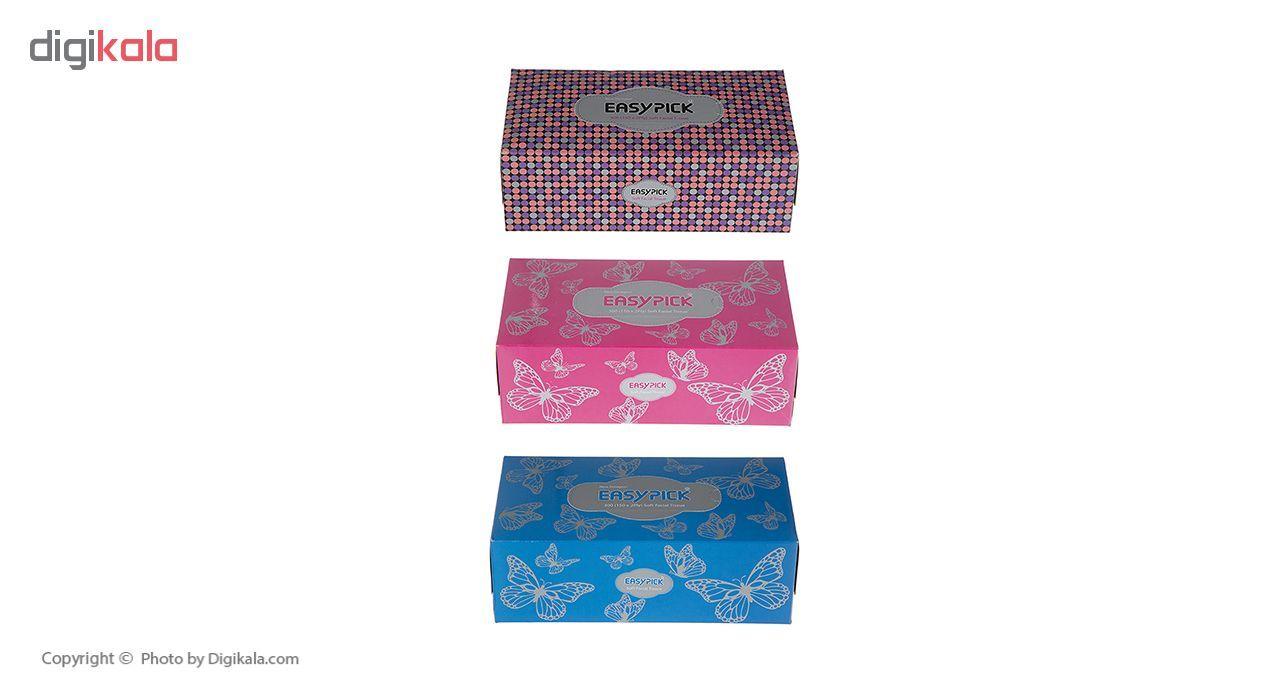 دستمال کاغذی 150 برگ ایزی پیک مدل Butterfly بسته 3 عددی main 1 25