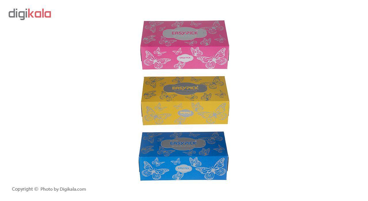 دستمال کاغذی 150 برگ ایزی پیک مدل Butterfly بسته 3 عددی main 1 26