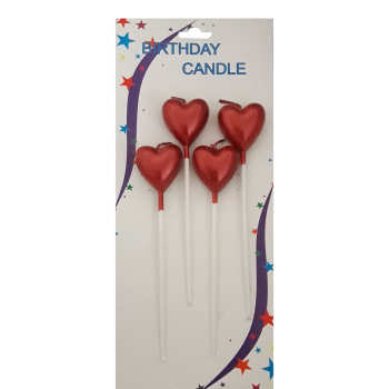 شمع تولد طرح قلب کد 21 بسته 4عددی