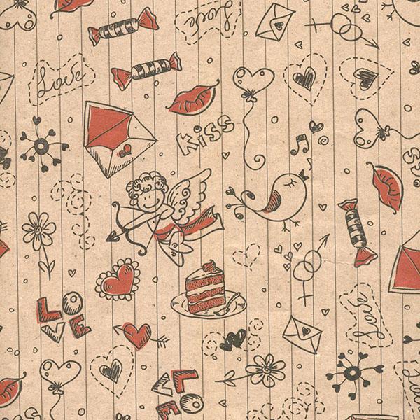 کاغذ کادو طرح نقاشی بسته 5 عددی