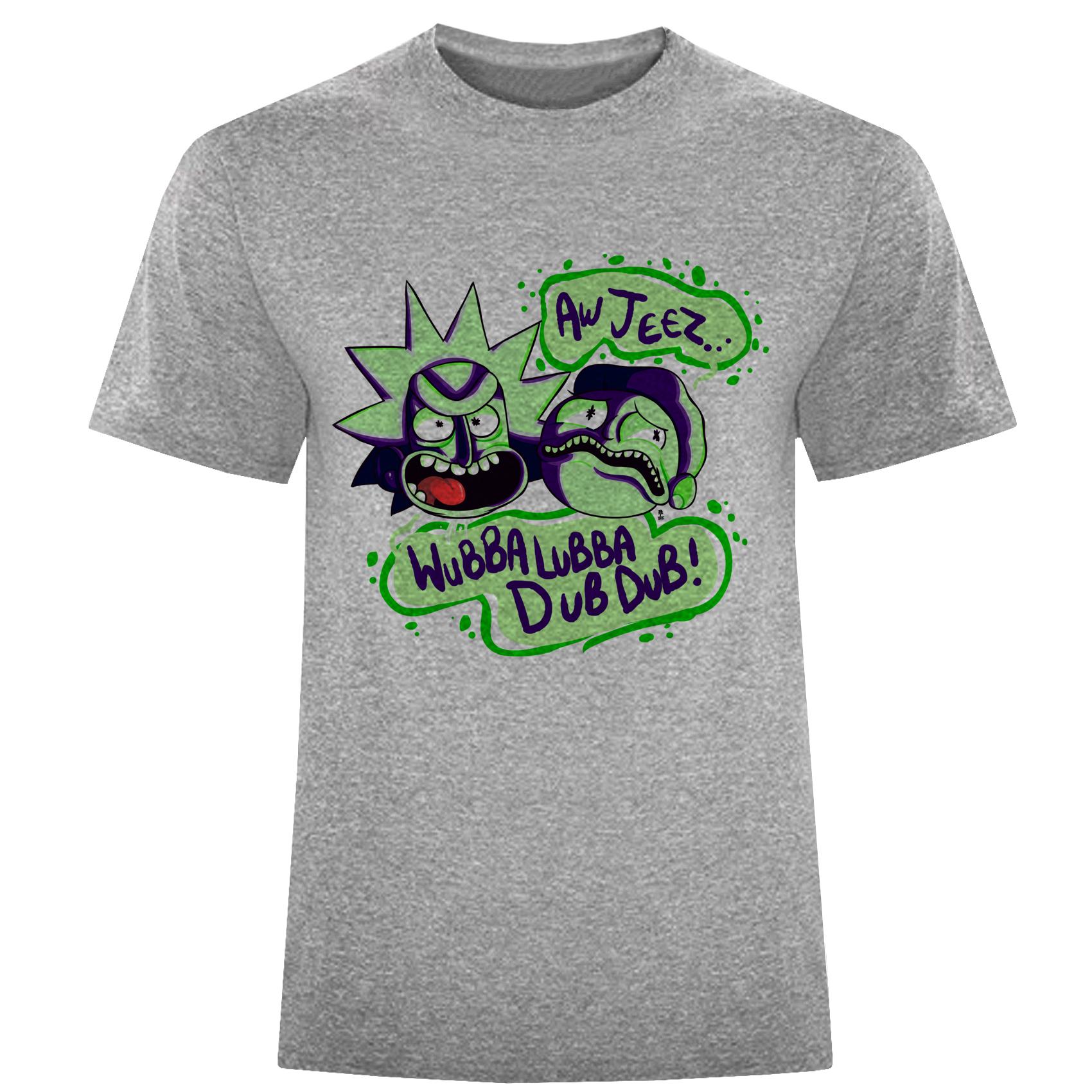 تی شرت مردانه طرح Rick and Morty کد S206