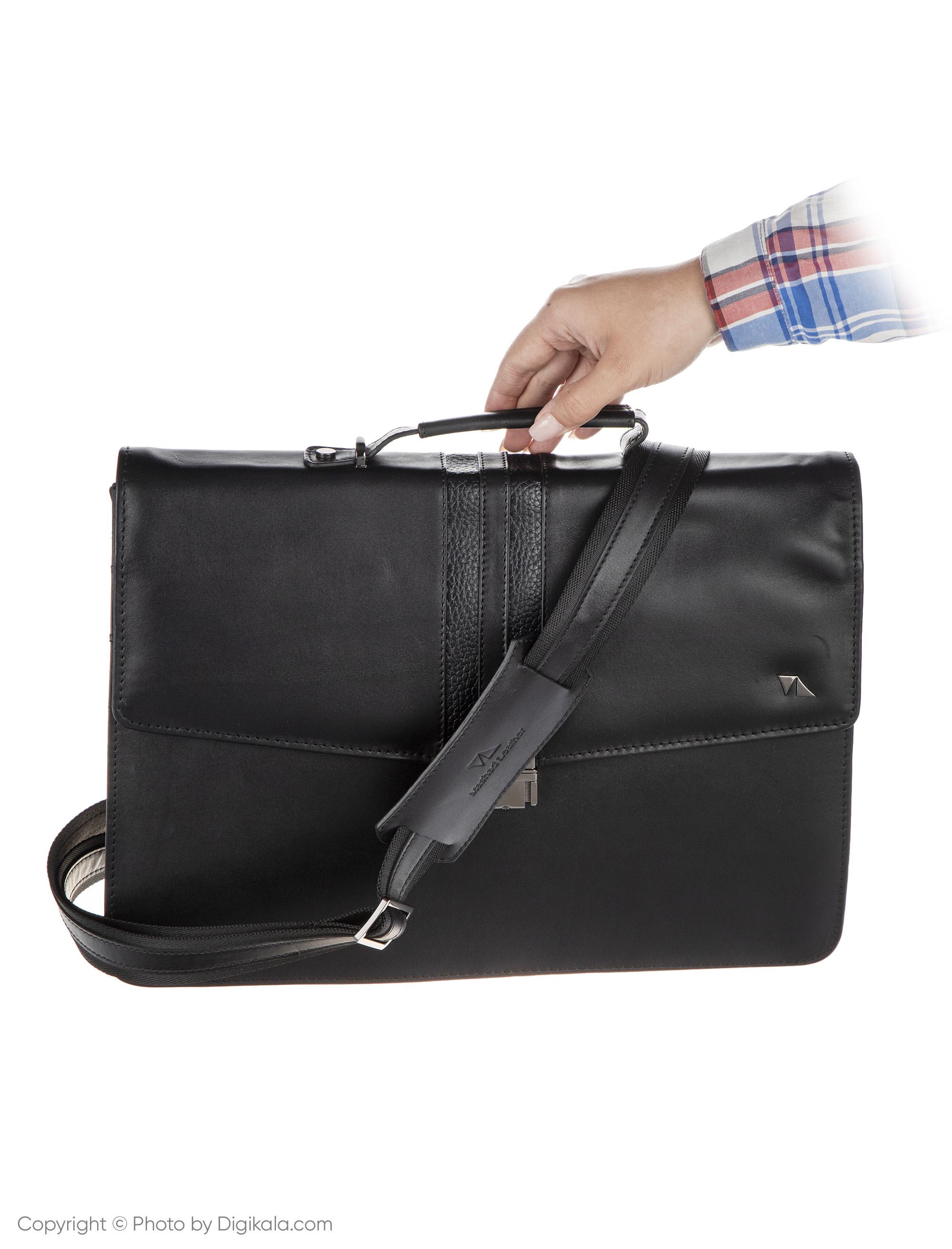 کیف اداری مردانه چرم مشهد مدل A0584-001 -  - 6
