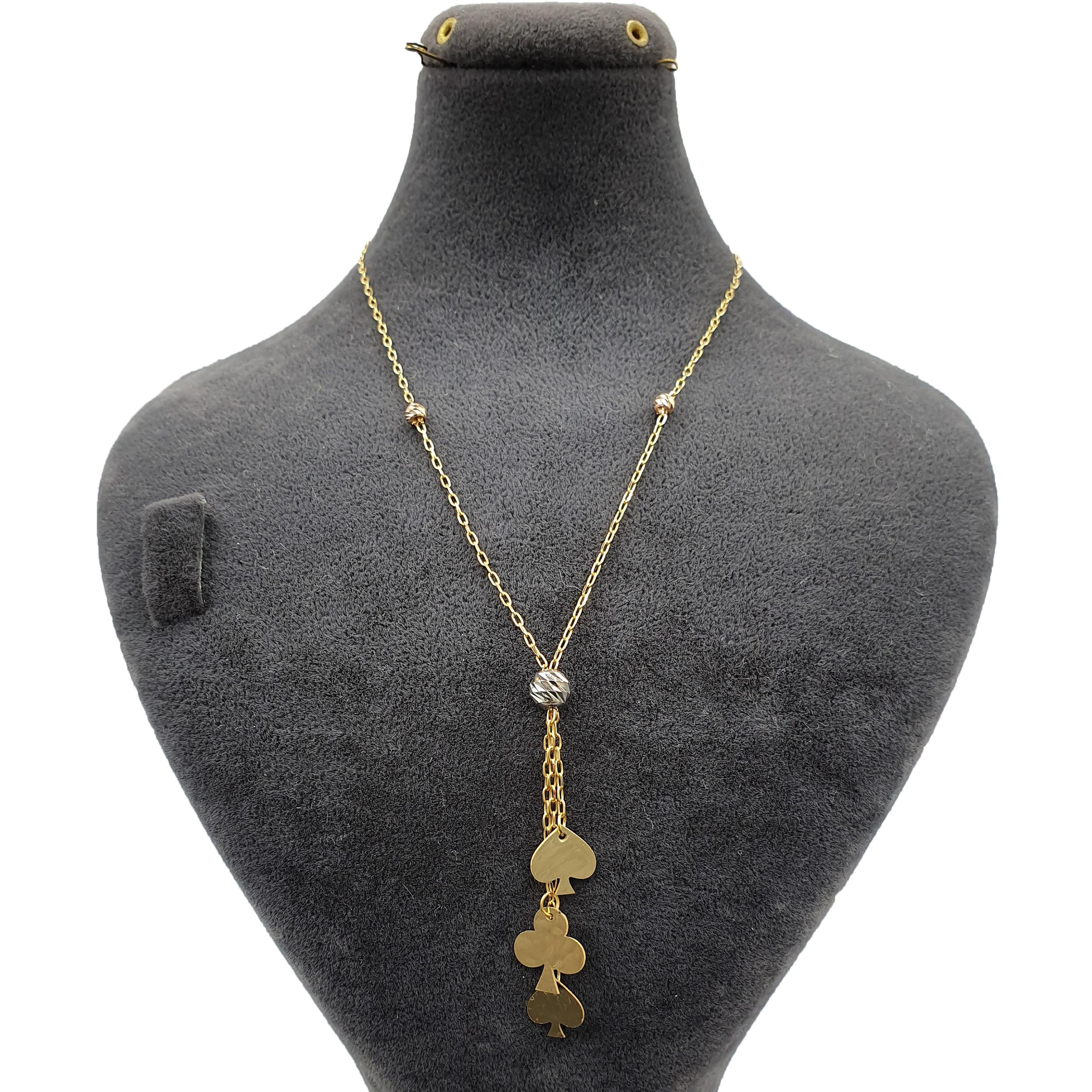 قیمت گردنبند طلا 18 عیار زنانه آزوریت کد A175