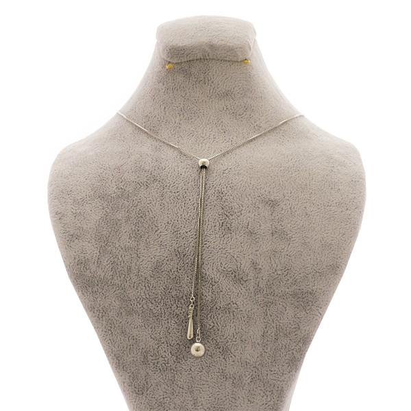گردنبند نقره زنانه کد 435