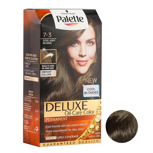 کیت رنگ مو پلت سری DELUXE شماره 3-7 حجم 50 میلی لیتر رنگ بلوند دودی