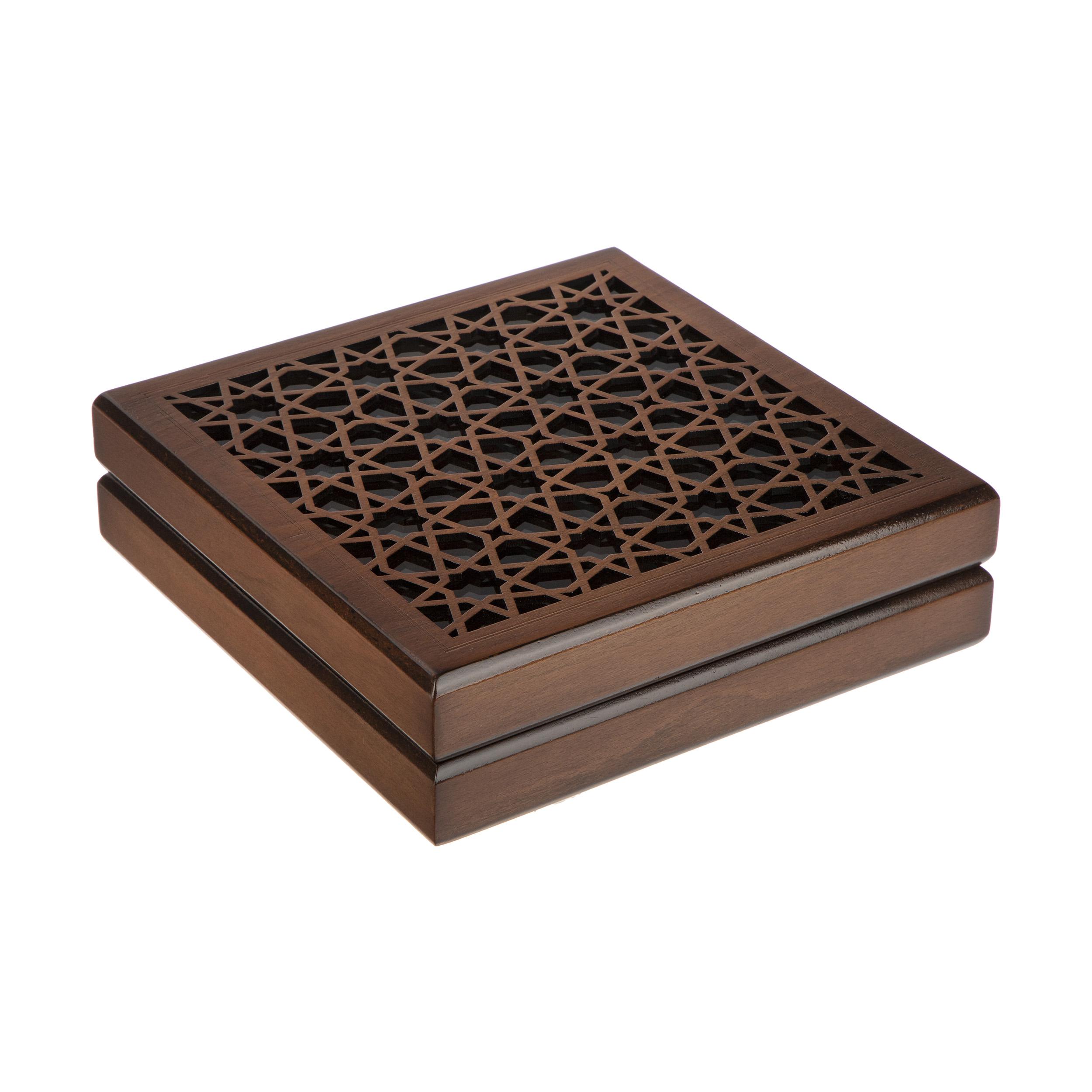 جعبه هدیه چوبی هُم آدیس مدل خاطره کد BT 032
