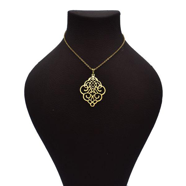 گردنبند طلا 18 عیار زنانه آرشا گالری طرح اسلیمی کد 334A2445