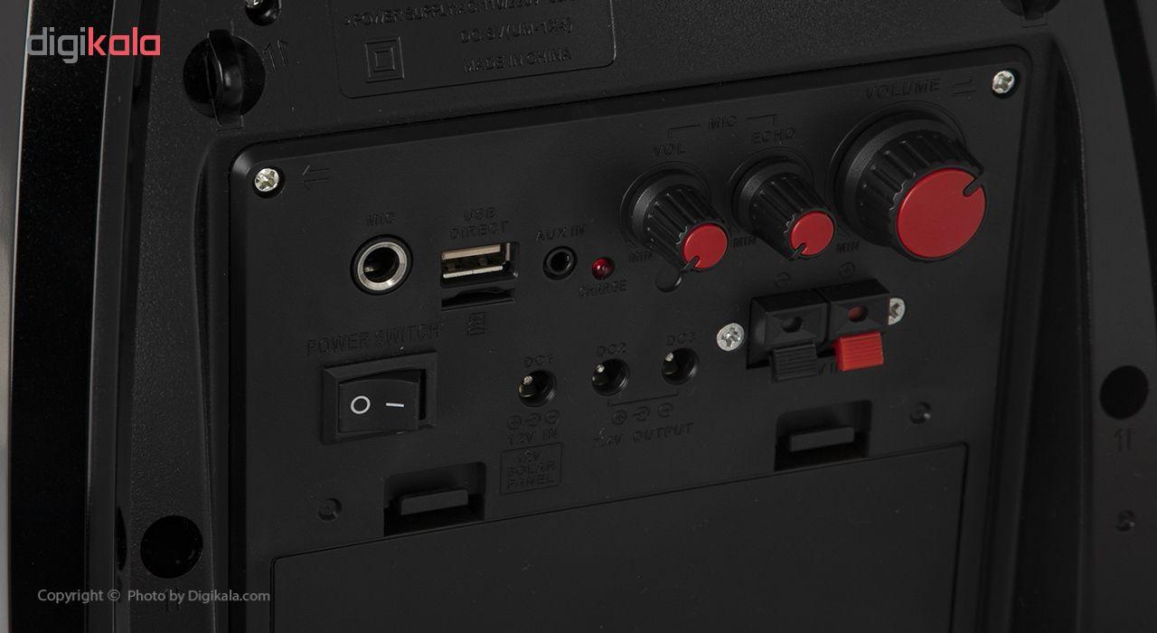 مجموعه کامل بلندگو و آمپلی فایر با میکروفون بی سیم و اکو  گولون مدل RX-810BT