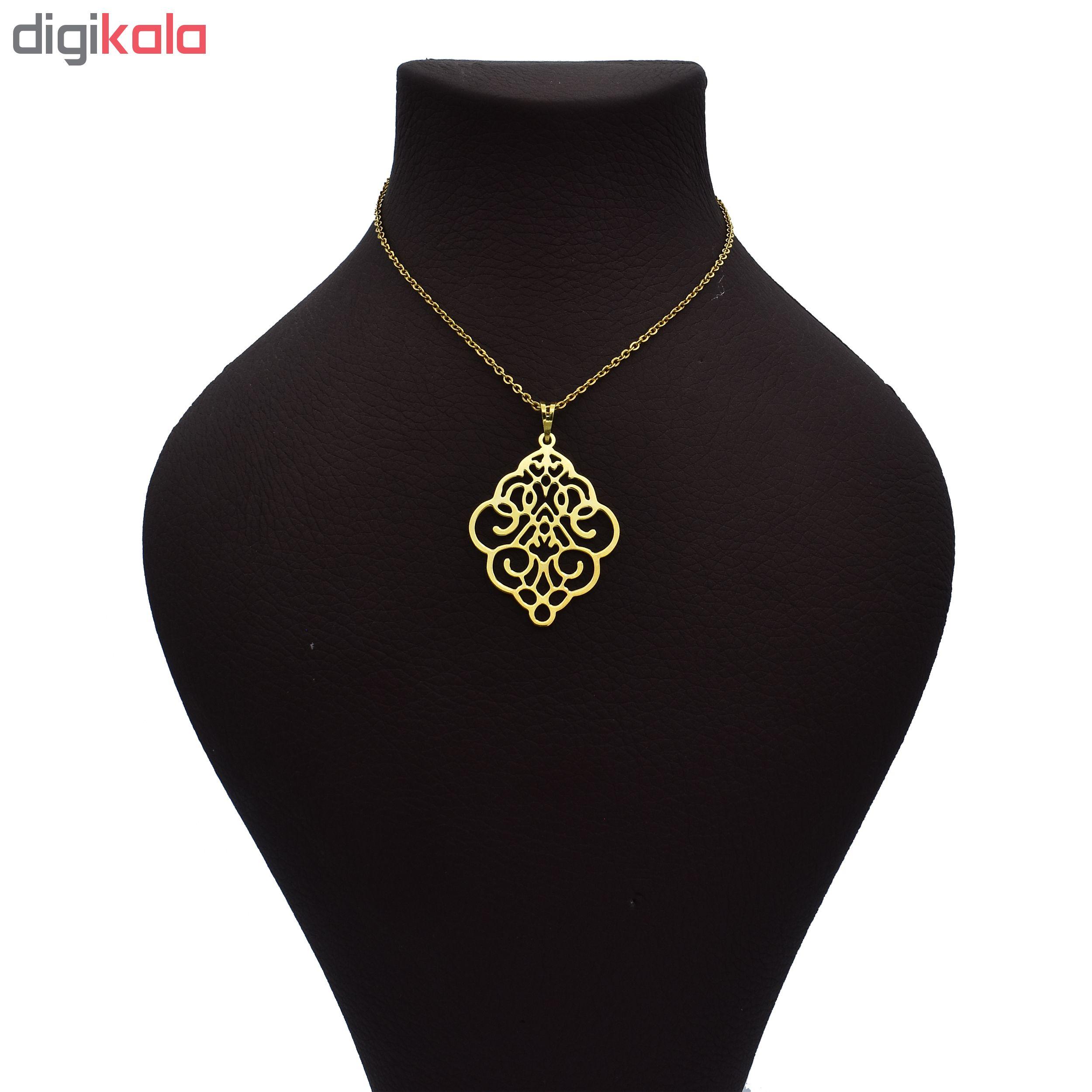 گردنبند طلا 18 عیار زنانه آرشا گالری طرح اسلیمی کد 334A2445 main 1 1
