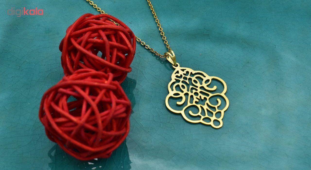 گردنبند طلا 18 عیار زنانه آرشا گالری طرح اسلیمی کد 334A2445 main 1 2