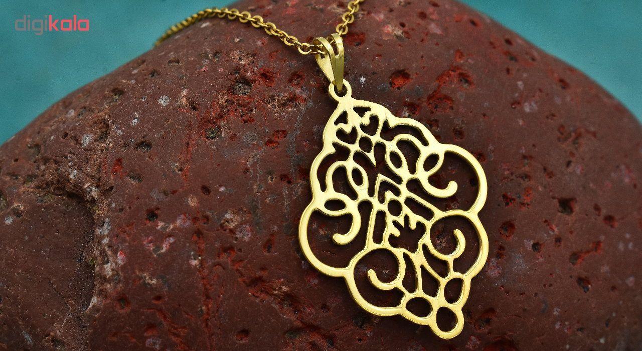 گردنبند طلا 18 عیار زنانه آرشا گالری طرح اسلیمی کد 334A2445 main 1 3