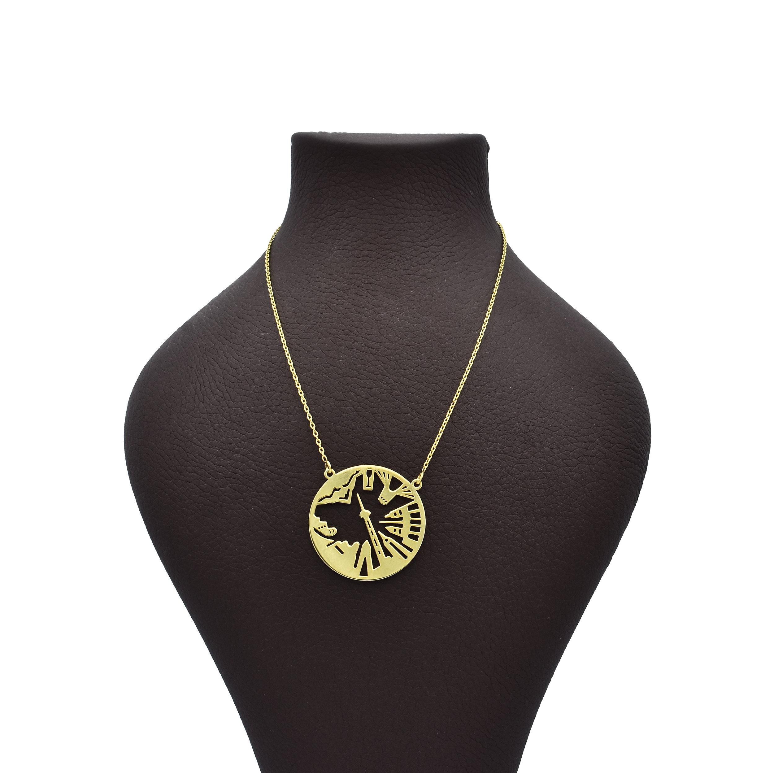 گردنبند طلا 18 عیار زنانه آرشا گالری طرح برج میلاد کد 328A2451